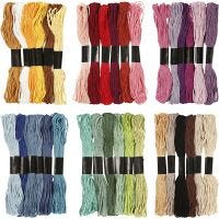 Embroidery Floss, thickness 1 mm, 252 bundle/ 1 pack