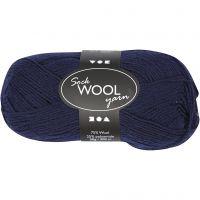 Sock Yarn, L: 200 m, dark blue, 50 g/ 1 ball