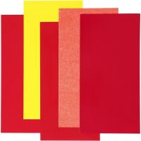 Color Dekor, red/orange/yellow, 5 ass sheets/ 1 pack