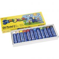 Mungyo Maxi oil pastel, thickness 17 mm, assorted colours, 12 pc/ 1 pack