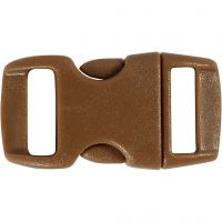 Click Clasp, L: 29 mm, W: 15 mm, hole size 3x11 mm, brown, 4 pc/ 1 pack