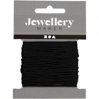 Polyester Cord, thickness 1 mm, black, 10 m/ 1 roll