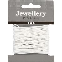 Polyester Cord, thickness 1 mm, white, 10 m/ 1 roll