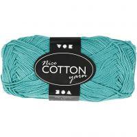 Mercerized Cotton Yarn, no. 6S/4, L: 165 m, green, 50 g/ 1 ball