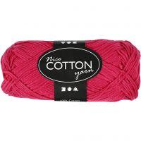 Mercerized Cotton Yarn, no. 6S/4, L: 165 m, pink, 50 g/ 1 ball
