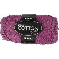 Mercerized Cotton Yarn, no. 6S/4, L: 165 m, violet, 50 g/ 1 ball