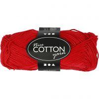 Mercerized Cotton Yarn, no. 6S/4, L: 165 m, red, 50 g/ 1 ball