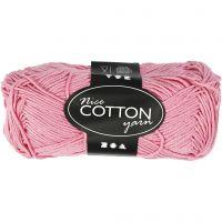 Mercerized Cotton Yarn, no. 6S/4, L: 165 m, light red, 50 g/ 1 ball