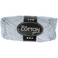 Mercerized Cotton Yarn, no. 6S/4, L: 165 m, light blue, 50 g/ 1 ball