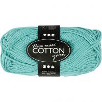 Cotton Yarn, no. 8/8, L: 80-85 m, size maxi , green, 50 g/ 1 ball