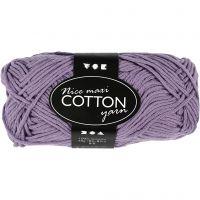Cotton Yarn, no. 8/8, L: 80-85 m, size maxi , purple, 50 g/ 1 ball