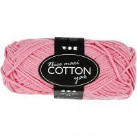 Cotton Yarn, no. 8/8, L: 80-85 m, size maxi , light red, 50 g/ 1 ball