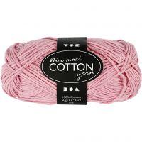 Cotton Yarn, no. 8/8, L: 80-85 m, size maxi , antique pink, 50 g/ 1 ball