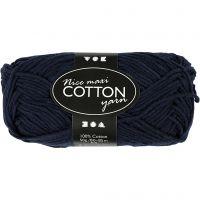 Cotton Yarn, no. 8/8, L: 80-85 m, size maxi , dark blue, 50 g/ 1 ball