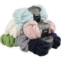 Chunky yarn of acrylic/wool, L: 15 m, size mega , 6x300 g/ 1 pack