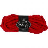 Chunky yarn of acrylic, L: 17 m, size manga , dark red, 200 g/ 1 ball