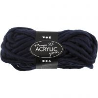 Chunky yarn of acrylic, L: 17 m, size manga , dark blue, 200 g/ 1 ball