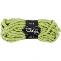 Chunky yarn of acrylic, L: 17 m, size manga , lime green, 200 g/ 1 ball