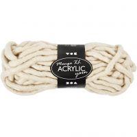 Chunky yarn of acrylic, L: 17 m, size manga , off-white, 200 g/ 1 ball