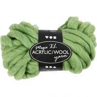 Chunky yarn of acrylic/wool, L: 15 m, size mega , lime green, 300 g/ 1 ball