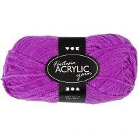 Fantasia Acrylic Yarn, L: 80 m, cyclamen, 50 g/ 1 pack