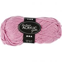 Fantasia Acrylic Yarn, L: 80 m, rose, 50 g/ 1 ball
