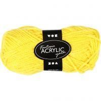 Fantasia Acrylic Yarn, L: 80 m, yellow, 50 g/ 1 ball
