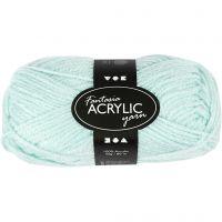 Fantasia Acrylic Yarn, L: 80 m, mint green, 50 g/ 1 ball