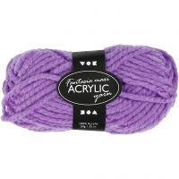 Fantasia Acrylic Yarn, L: 35 m, size maxi , purple, 50 g/ 1 ball