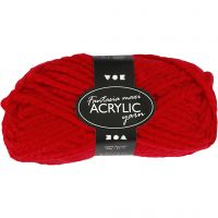 Fantasia Acrylic Yarn, L: 35 m, size maxi , red, 50 g/ 1 ball