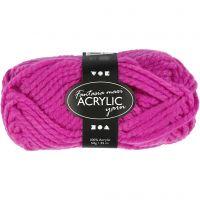 Fantasia Acrylic Yarn, L: 35 m, size maxi , cyclamen, 50 g/ 1 ball