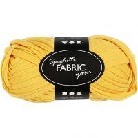 Spaghetti yarn, L: 35 m, yellow, 100 g/ 1 ball