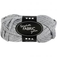 Spaghetti yarn, L: 35 m, grey, 100 g/ 1 ball