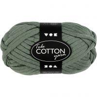 Cotton tube yarn, L: 45 m, dark green, 100 g/ 1 ball