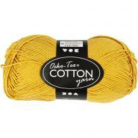 Cotton Yarn, no. 8/4, L: 170 m, curry, 50 g/ 1 ball