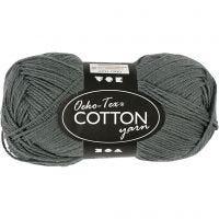 Cotton Yarn, no. 8/4, L: 170 m, grey, 50 g/ 1 ball