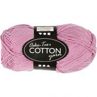Cotton Yarn, no. 8/4, L: 170 m, light red, 50 g/ 1 ball