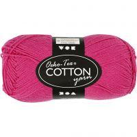Cotton Yarn, no. 8/4, L: 170 m, pink, 50 g/ 1 ball