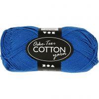 Cotton Yarn, no. 8/4, L: 170 m, cobalt blue, 50 g/ 1 ball