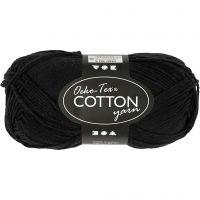 Cotton Yarn, no. 8/4, L: 170 m, black, 50 g/ 1 ball