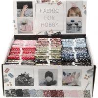Patchwork Fabric, size 44x55 cm, 100 g, assorted colours, 48 bundle/ 1 pack