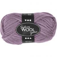 Sydney Yarn, L: 50 m, purple, 50 g/ 1 ball