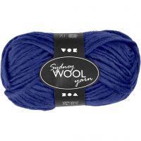 Sydney Yarn, L: 50 m, blue, 50 g/ 1 ball