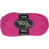 Melbourne Yarn, L: 92 m, neon pink, 50 g/ 1 ball