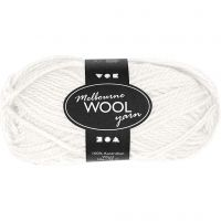 Melbourne Yarn, L: 92 m, off-white, 50 g/ 1 ball