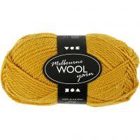Melbourne Yarn, L: 92 m, dark yellow, 50 g/ 1 ball