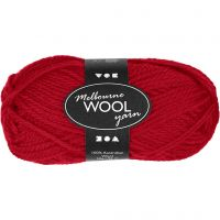 Melbourne Yarn, L: 92 m, red, 50 g/ 1 ball