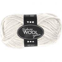 Sydney Yarn, L: 50 m, off-white, 50 g/ 1 ball