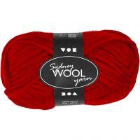 Sydney Yarn, L: 50 m, red, 50 g/ 1 ball