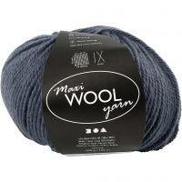 Wool yarn, L: 125 m, blue, 100 g/ 1 ball